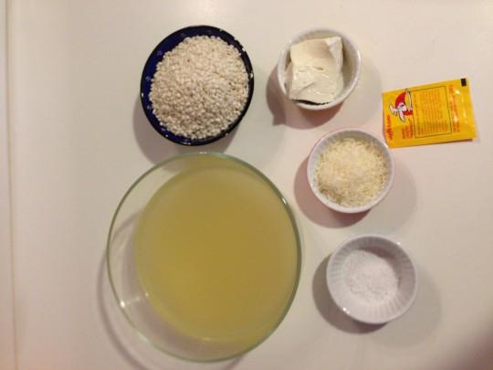 ingredienti risotto allo zafferano per bambini