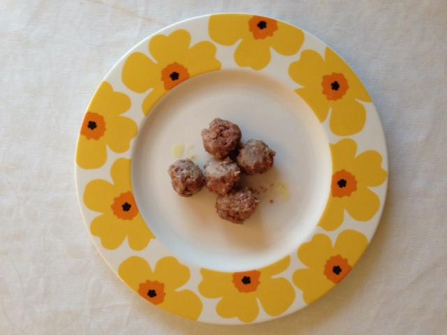 Famoso Polpette di carne e limone cotte al piatto (senza uovo nè latte) TU05