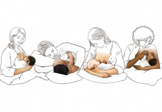 posizioni di attacco al seno durante allattamento