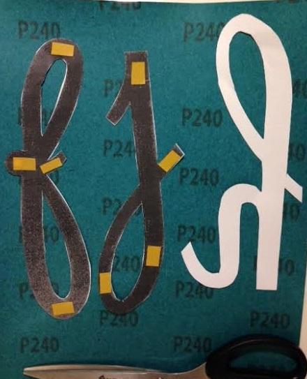 lettere smerigliate 3 attacco lettere