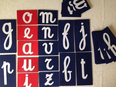 lettere smerigliate 7 risultato finale